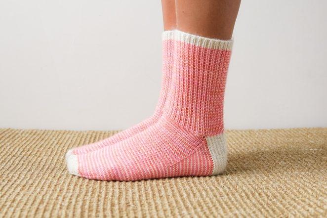 Striped Crew Socks In Pocket Posy | Purl Soho