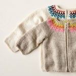 Baby Fair Isle Cardigan In Posy