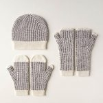 Dappled Hat, Mitten + Hand Warmer Set
