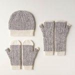 Dappled Hat, Mitten + Hand Warmer Set