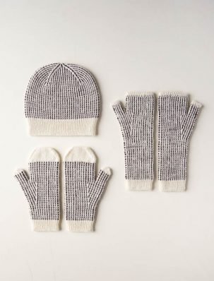 Dappled Hat, Mitten + Hand Warmer Set | Purl Soho