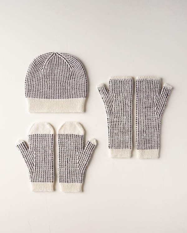 Dappled Hat, Mitten + Hand Warmer Set | Purl Soho