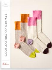 Easy Heel Colorblock Socks Pattern Download