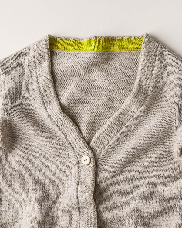 Two-Tone Banded Cardigan | Purl Soho
