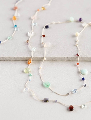 Floating Gemstones Necklace | Purl Soho