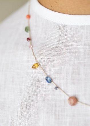 Floating Gemstones Necklace | Purl Soho
