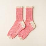 Striped Crew Socks In Pocket Posy