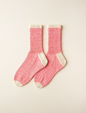 Striped Crew Socks In Pocket Posy | Purl Soho