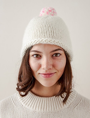Speckled Pom Pom Hat | Purl Soho