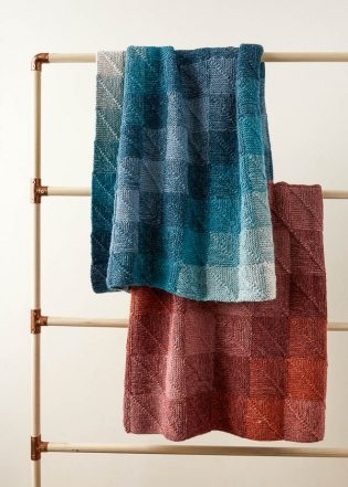 Mitered Corner Blanket | Purl Soho