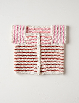 Little Baby Sweater In Posy | Purl Soho