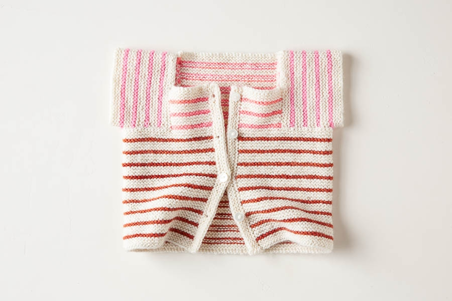 Little Baby Sweater In Posy | Purl Soho