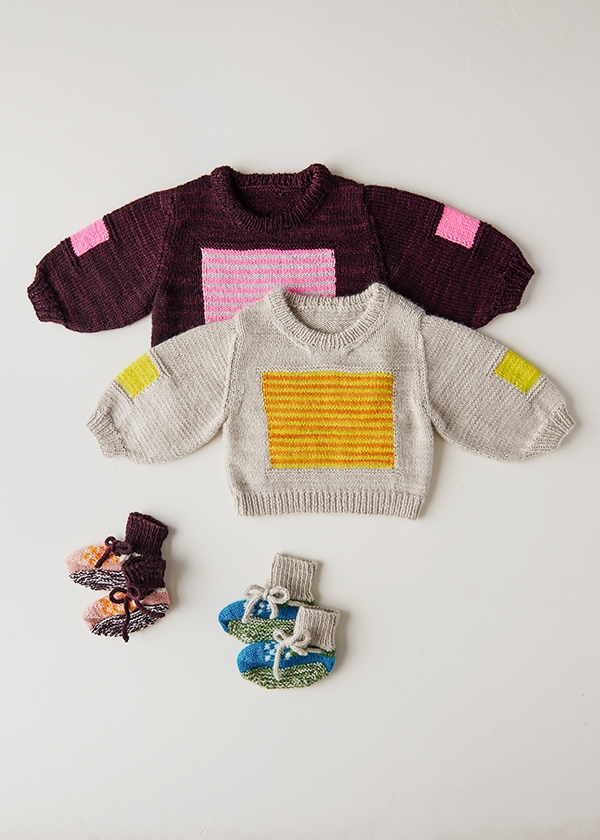 DEGEN For Purl Soho: City Block Sweater + Vintage Taxi Booties | Purl Soho