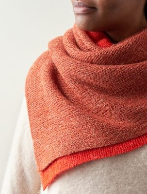 Half + Half Triangles Wrap | Purl Soho