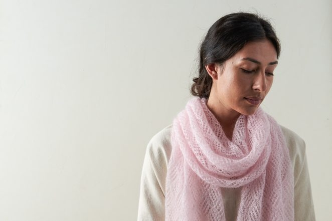 Checkerboard Lace Scarf In Tussock | Purl Soho