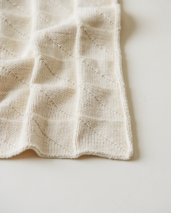 Embossed Triangles Blanket | Purl Soho