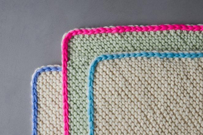 Bordered Bias Blanket | Purl Soho