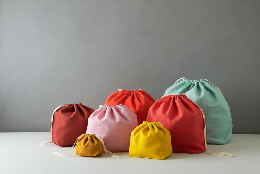 Easy Drawstring Bags in Spectrum Cotton | Purl Soho