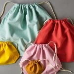 Easy Drawstring Bags in Spectrum Cotton