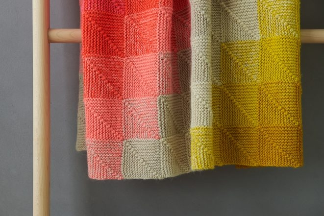 Mitered Corner Blanket In New Colors | Purl Soho