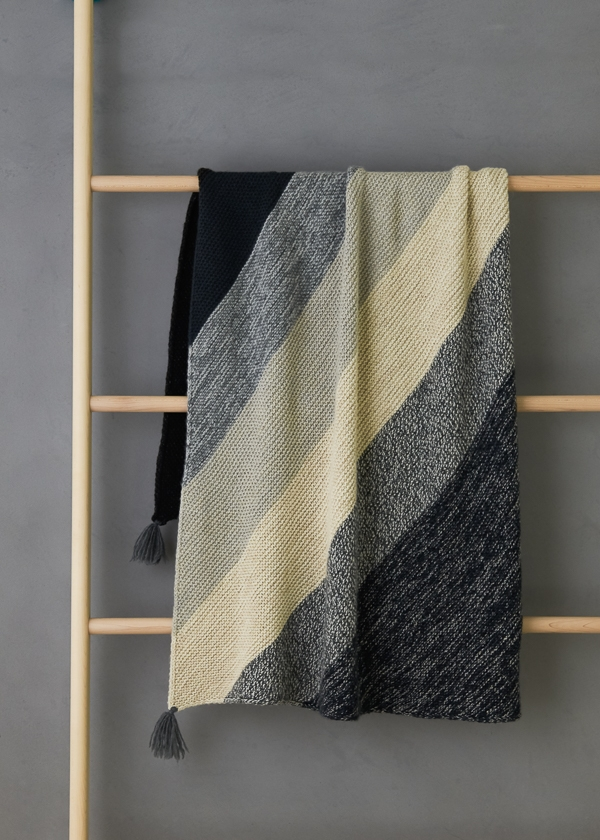 Colorblock Bias Blanket | Purl Soho