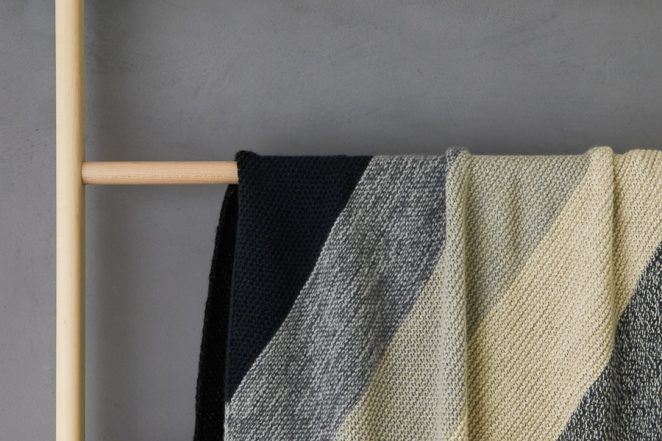 Rectangular Colorblock Bias Blanket In New Yarns + Colors | Purl Soho