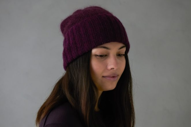 Simple Pleasures Hat In Line Weight + Tussock | Purl Soho