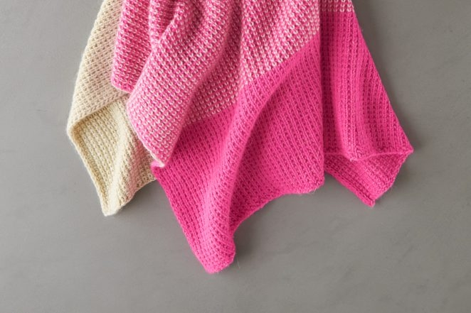 Colorblock Jute Stitch Blanket | Purl Soho