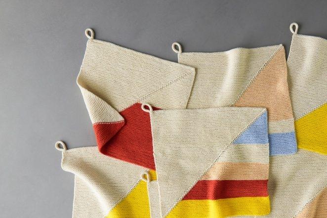 Colorful Half + Half  Washcloths | Purl Soho