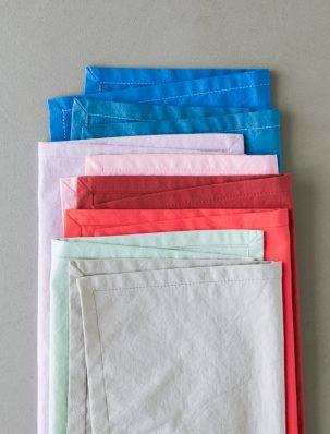 Classic Mitered Corner Napkins In Spectrum Cotton | Purl Soho