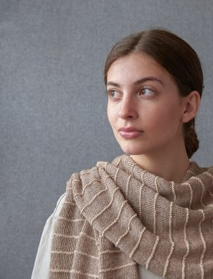 Raised Ridge Wrap | Purl Soho
