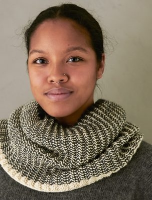 Two-Color Mistake Rib Cowl | Purl Soho