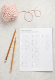 Reading A Knitting Pattern