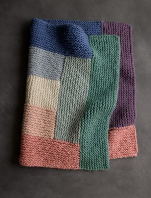Log Cabin Spectrum Blanket | Purl Soho