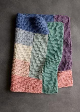 Log Cabin Spectrum Blanket | Purl Soho
