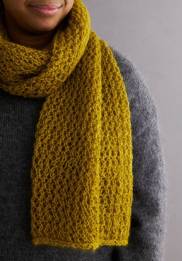 Very Pretty Lace Scarf In Coorie | Purl Soho