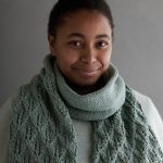 Lovely Leaf Lace Scarf In Campo