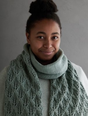 Lovely Leaf Lace Scarf In Campo | Purl Soho