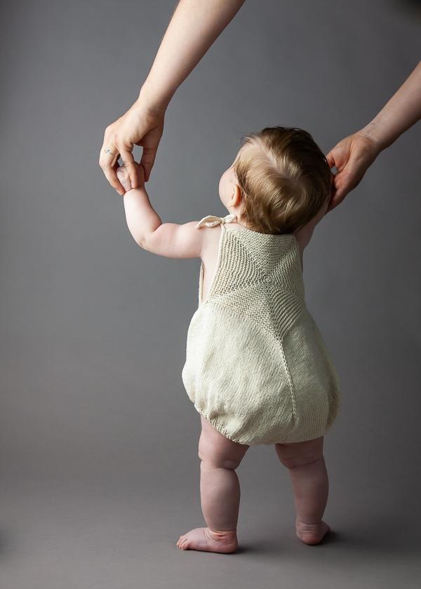 Ainur Berkimbayeva For Purl Soho: Pinwheel Baby Romper | Purl Soho