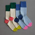 Easy Heel Colorblock Socks In New Colors