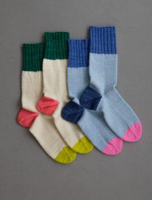 Easy Heel Colorblock Socks In New Colors | Purl Soho