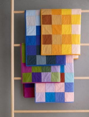 Learn To Sew A Patchwork Quilt In Spectrum Cotton | Purl Soho