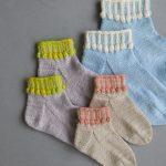 Ainur Berkimbayeva For Purl Soho: Hop, Skip + A Jump Socks