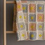 Granny Square Blanket In Cotton Pure