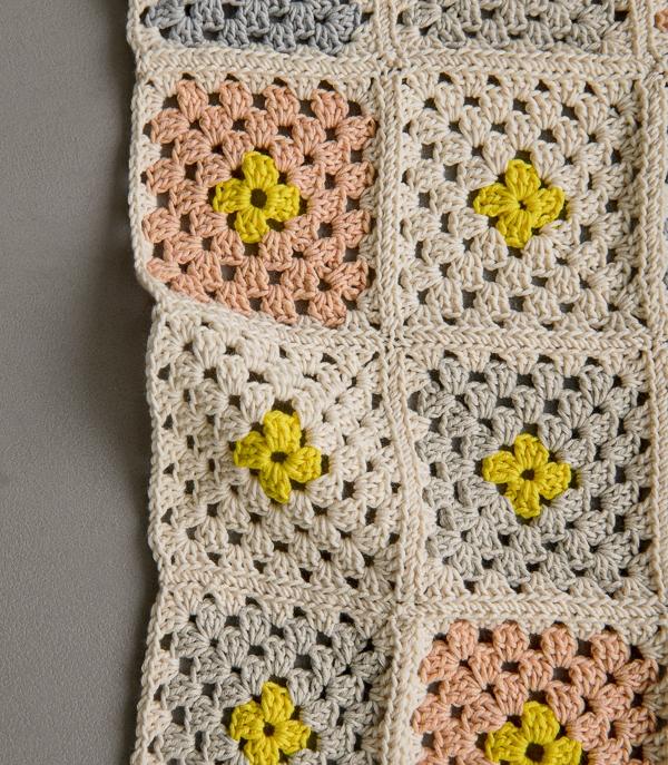 Granny Square Blanket In Cotton Pure | Purl Soho