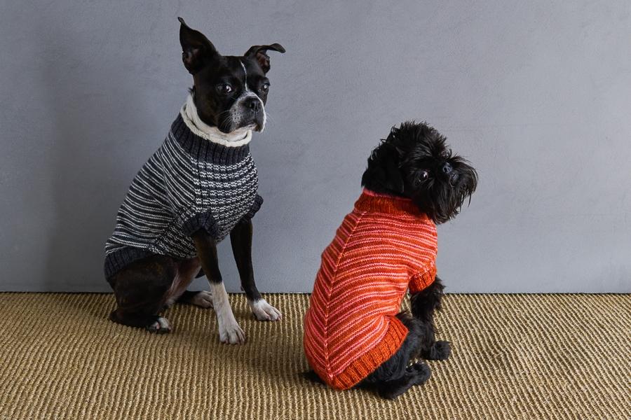Sole Salvo For Purl Soho: Pinstripe Dog Sweater   Purl Soho