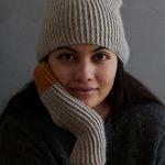 Twisted Rib Hat + Mittens In Cashmere Merino Bloom
