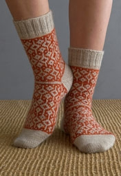 Double Diamond Socks Pattern Download