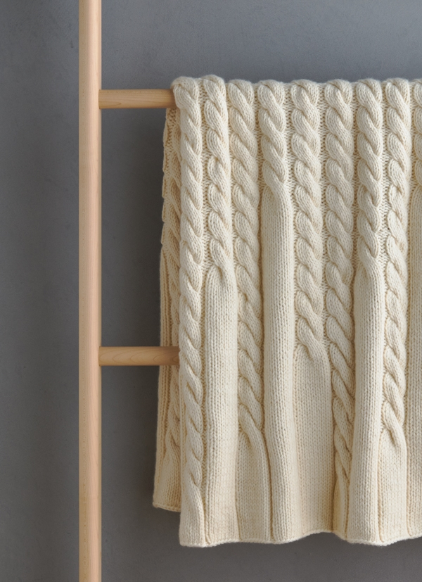 Up + Down Cables Blanket | Purl Soho
