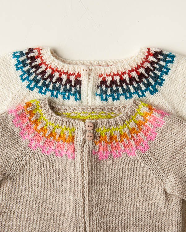 Our Very Special Baby Fair Isle Cardigan In Posy!